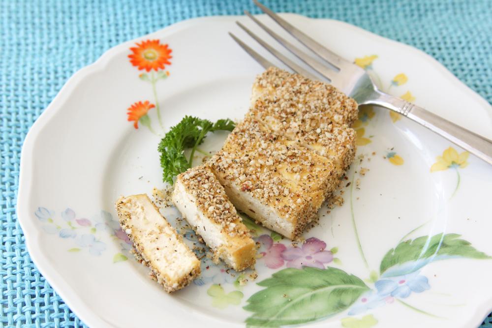Basil Crusted Baked Tofu