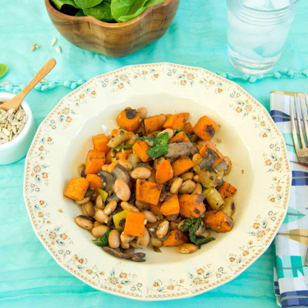 Here's To Your Journey With Plants + Whole Food Plant Based Sweet Potato Bean Hash (oil free)