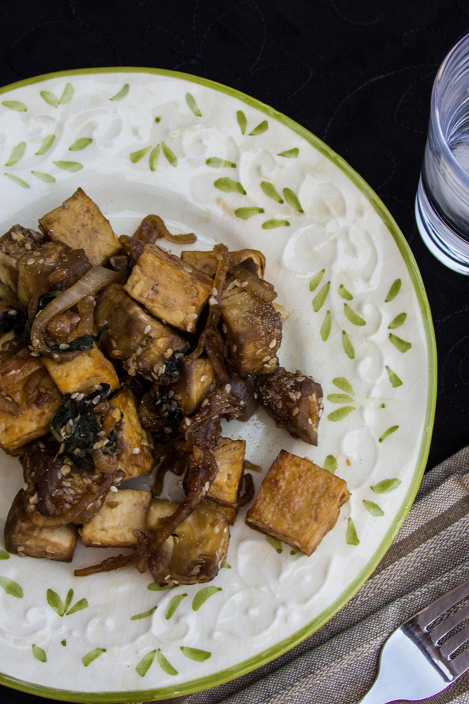 13_whole_food_plant_based_tofu_eggplant_plated_vertical_top_shot