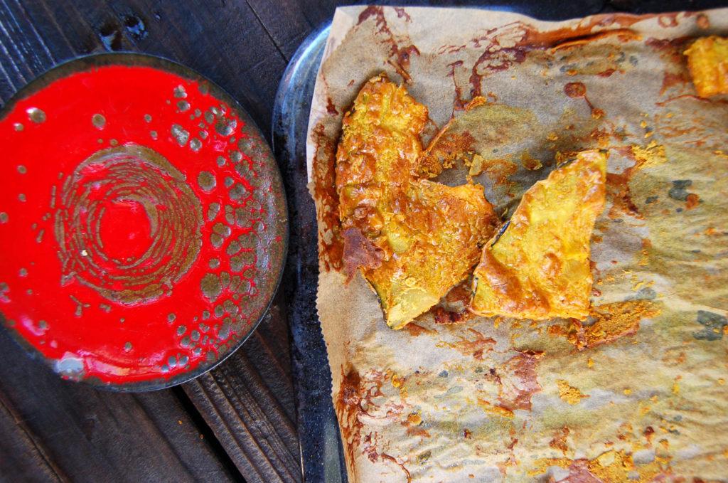 whole_food_plant_based Kabocha_squash_red_plate
