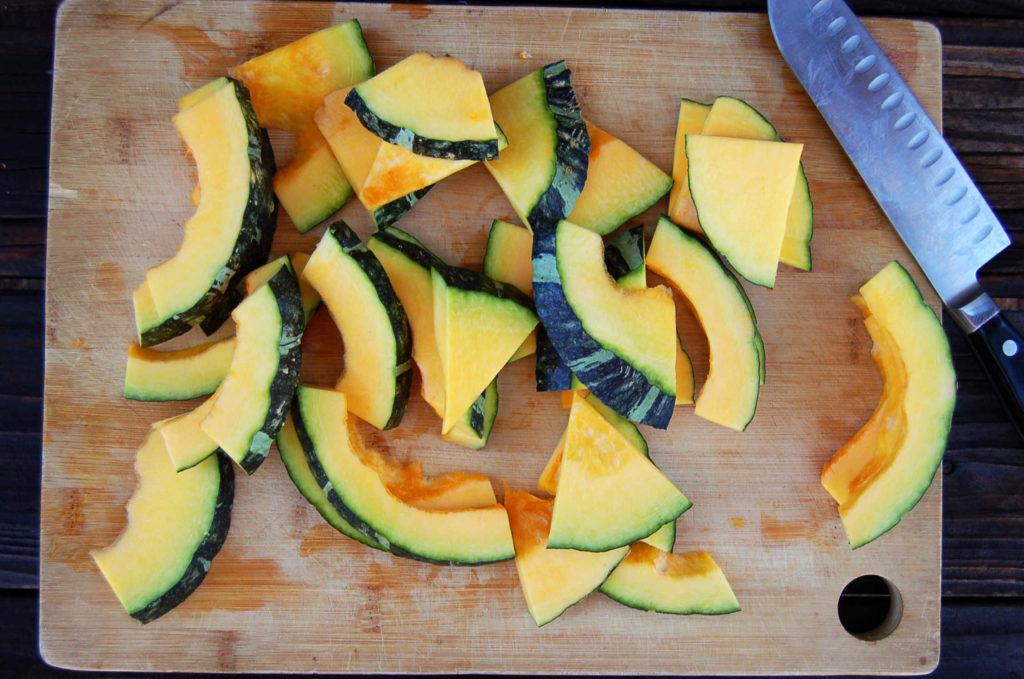 whole_food_plant_based Kabocha_squash_half_moons_halved
