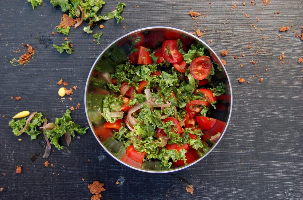 walnut_lentil_tacos_kale_tomatoes