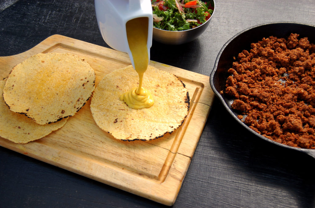 walnut_lentil_tacos_cheese_pour_board