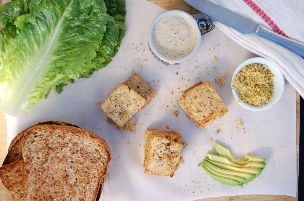 baked_tofu_caesar_sandwich_ingredients_hor