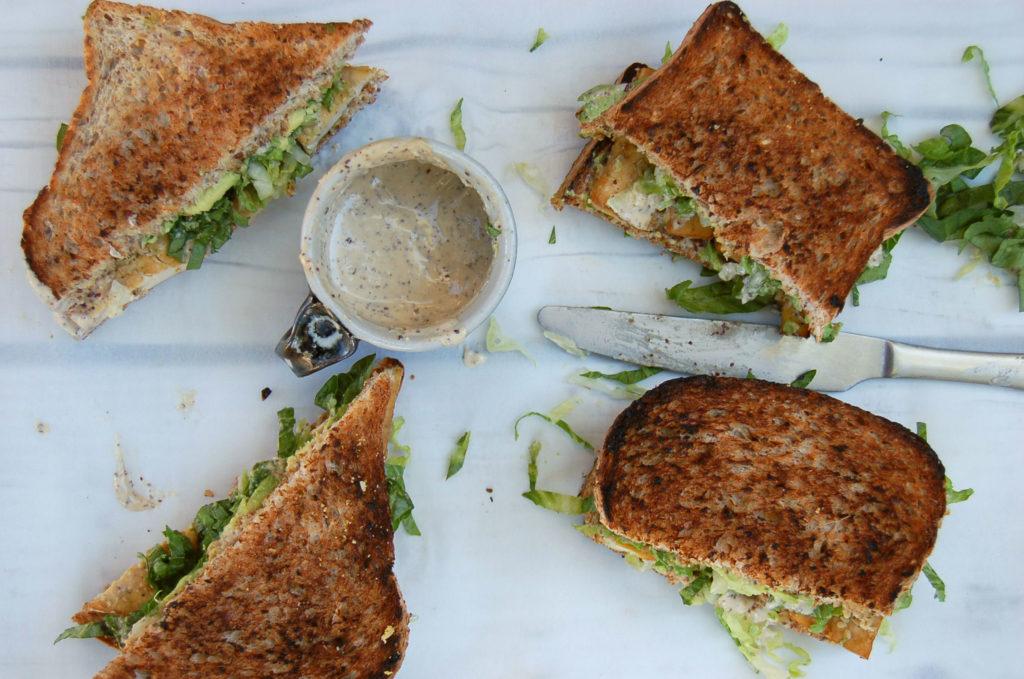 baked_tofu_caesar_sandwich_bread_top
