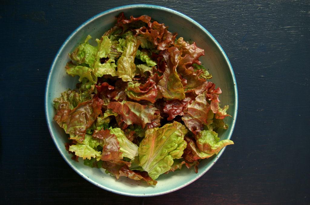 baked_tofu_green_salad_lettuce