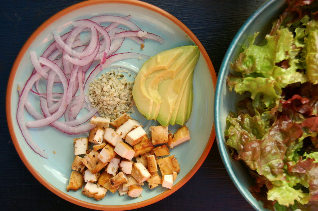 baked_tofu_green_salad_ingredients