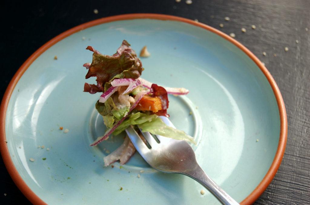 baked_tofu_green_salad_bite_closer
