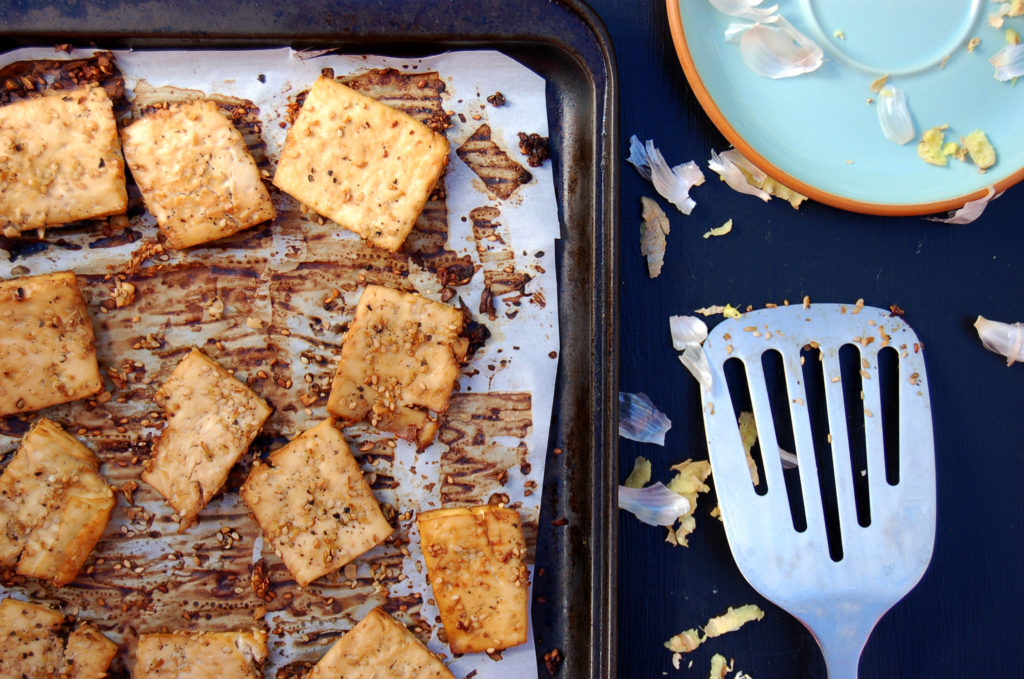 baked_tofu_tray_and_spatula
