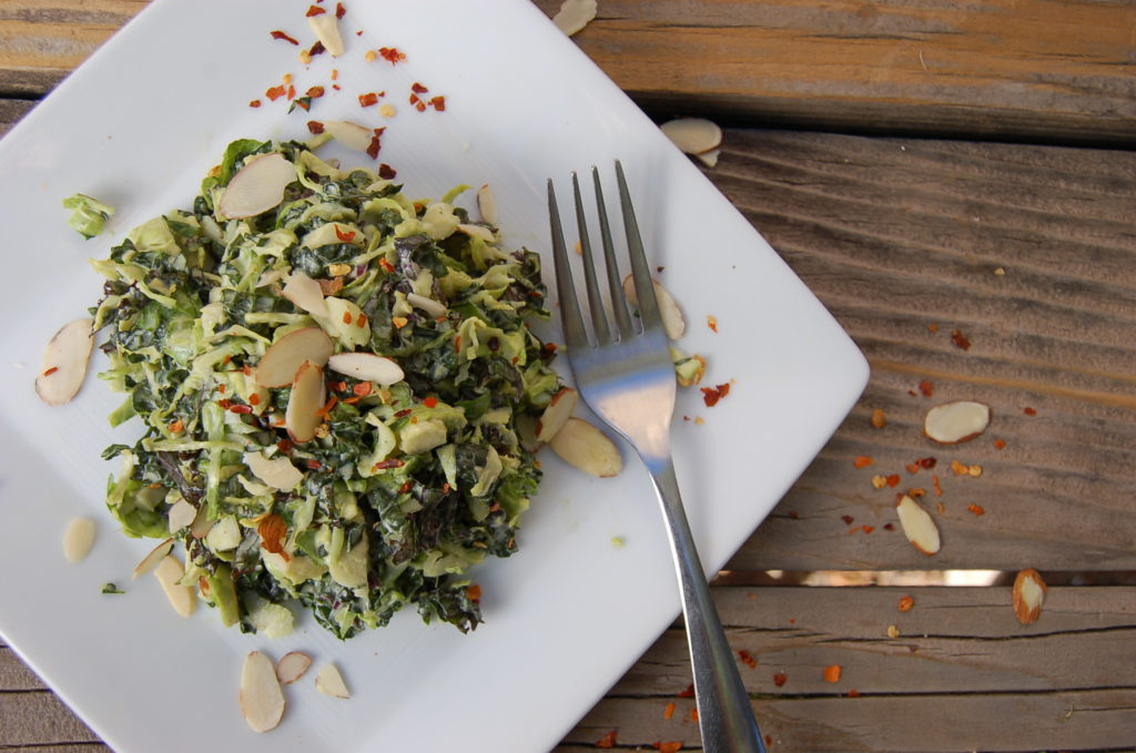 kale_brussels_salad_top_white_plate