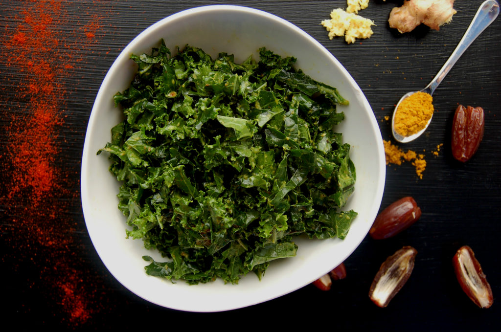 Spiced Curry Kale Salad