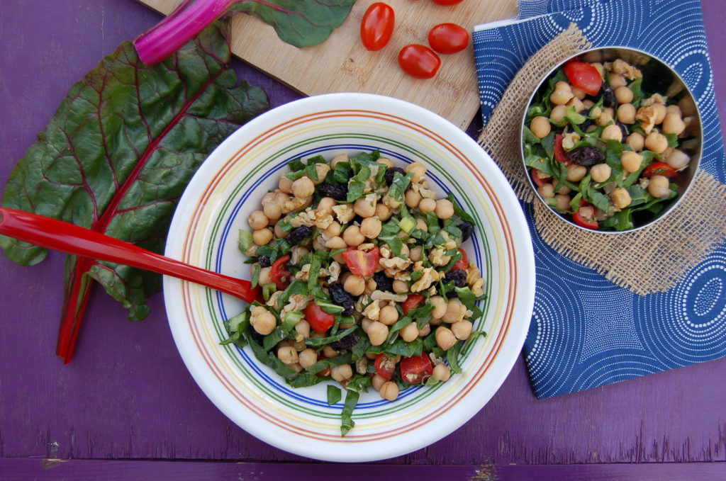 Whole Food Plant Based Lemony Chickpea Salad