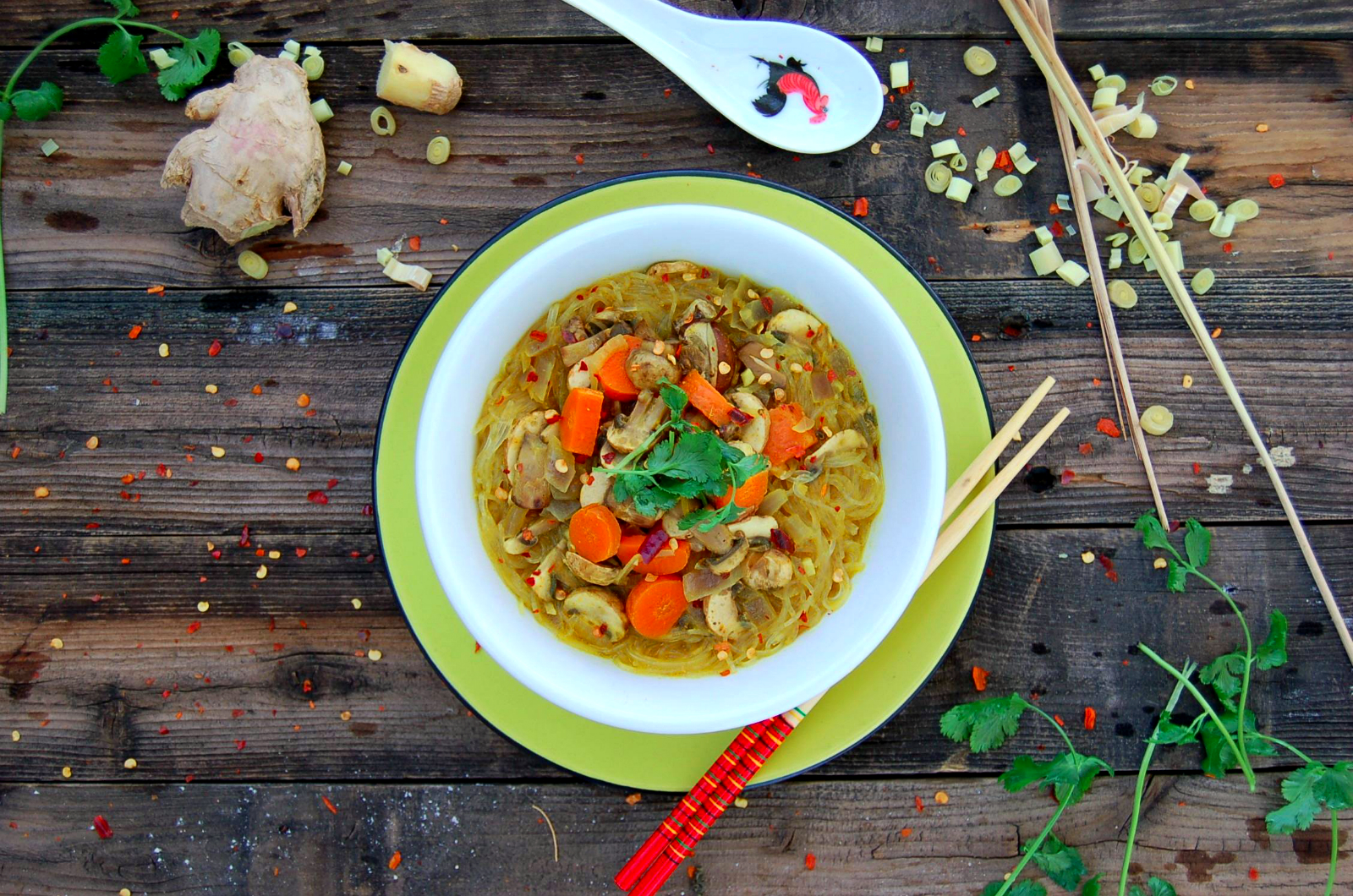 Whole food plant based easy thai coconut curry noodles thai coconut curry soup that will rock your pretty world forumfinder Images