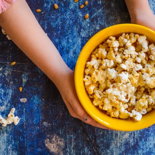 Fear by Lyndsey Hafer-Williams + Clean Food Dirty Girl Popcorn (oil and butter free)
