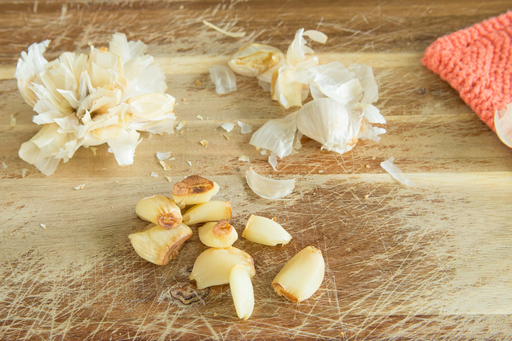 how to cook garlic without oil