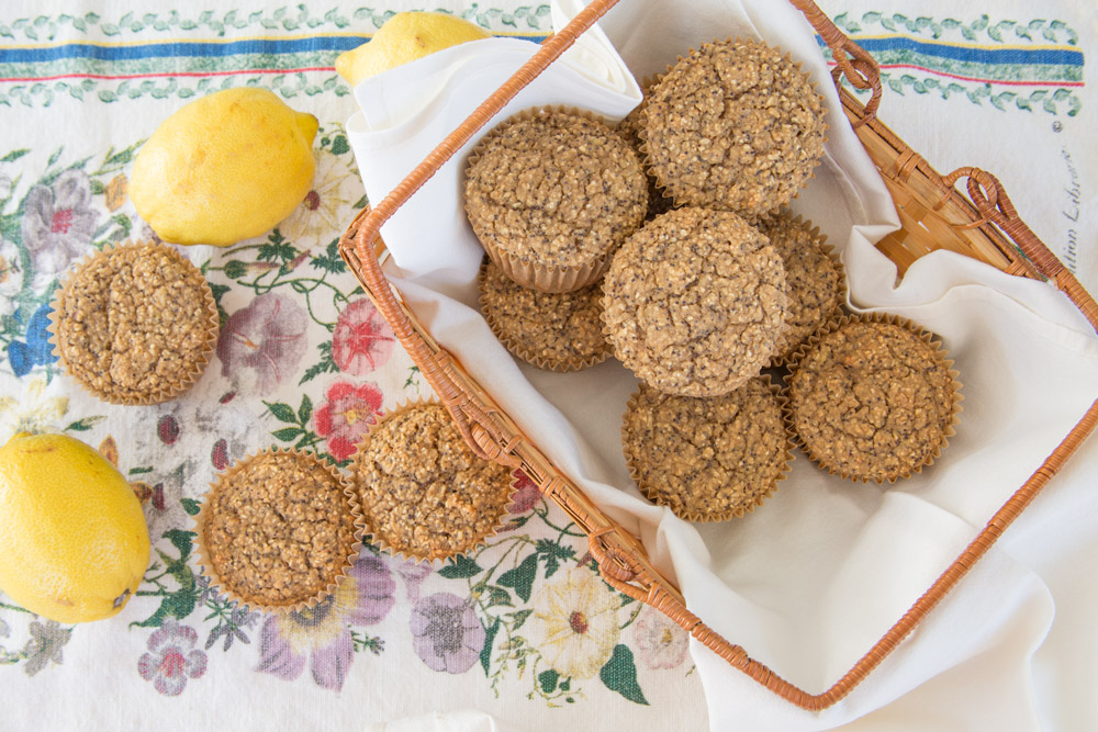 8_whole_food_plant_based_lemon_poppy_seed_muffins_top_shot