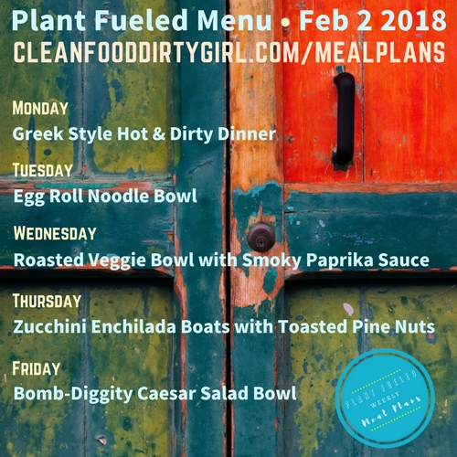 February_2_2018_Meal_Plan_Menu