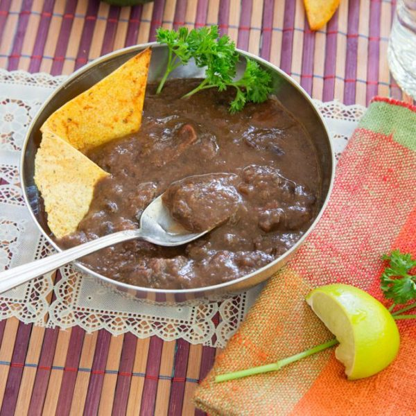 Love by Lyndsey Hafer-Williams + Plant Based Creamy Black Bean Soup (oil free)