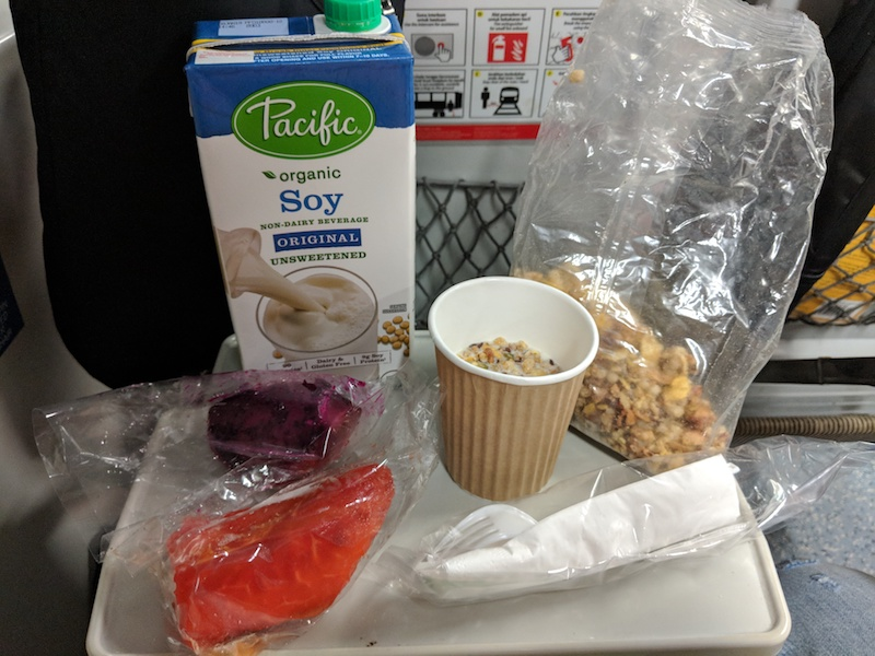 plant based food I brought on the train