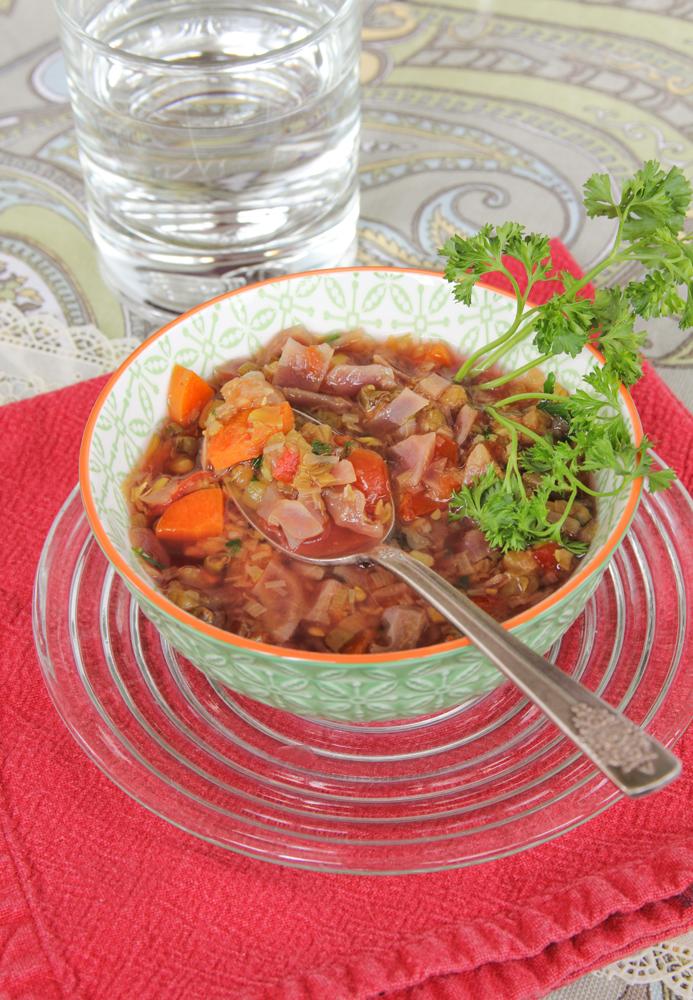 Turmeric Mung Bean Soup