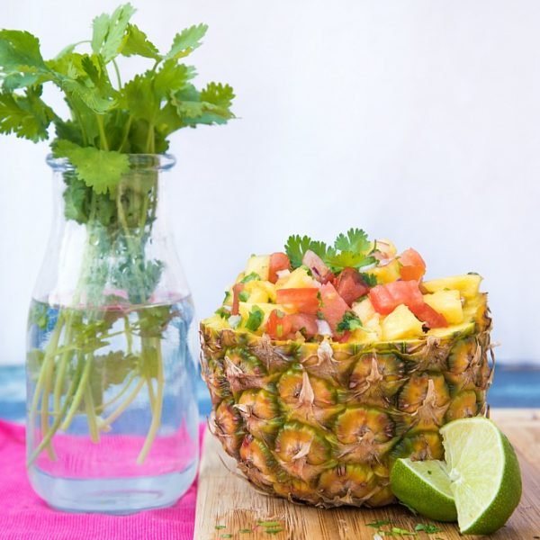 Important Takeaways From Our First Retreat That Everyone Should Read + Fresh Pineapple Salsa in a Pineapple Bowl