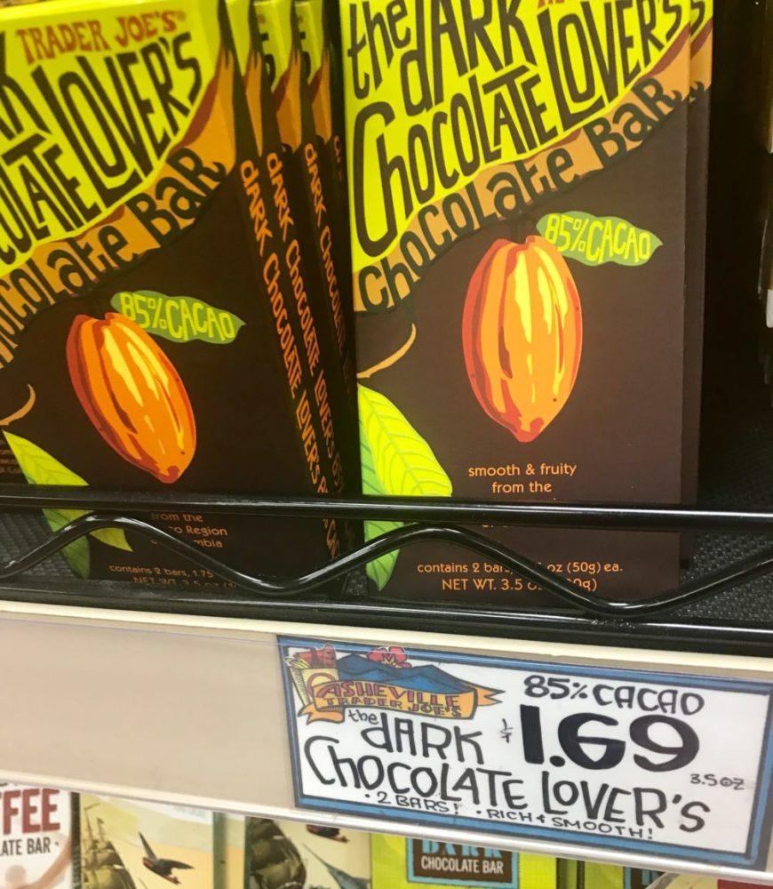 Trader Joe's plant based chocolate bar