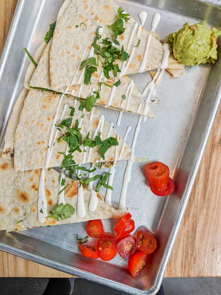 Cashew cheese quesadillas from Bolt Cutter.