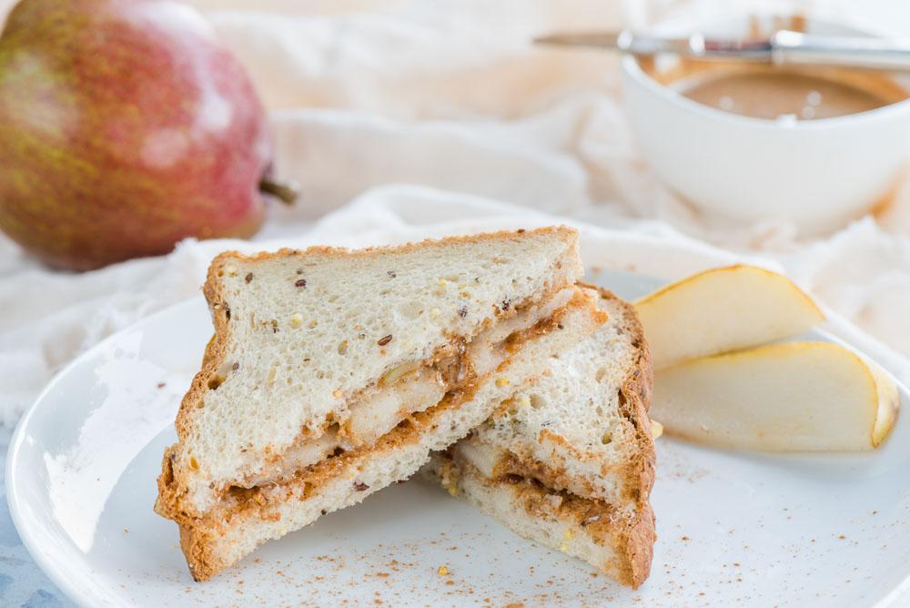 Cinnamon Almond Pear Sandwich