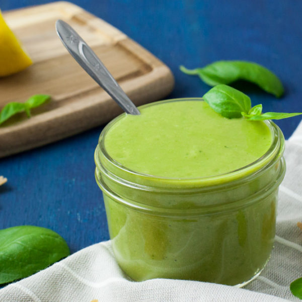 quick basil sauce (oil free)
