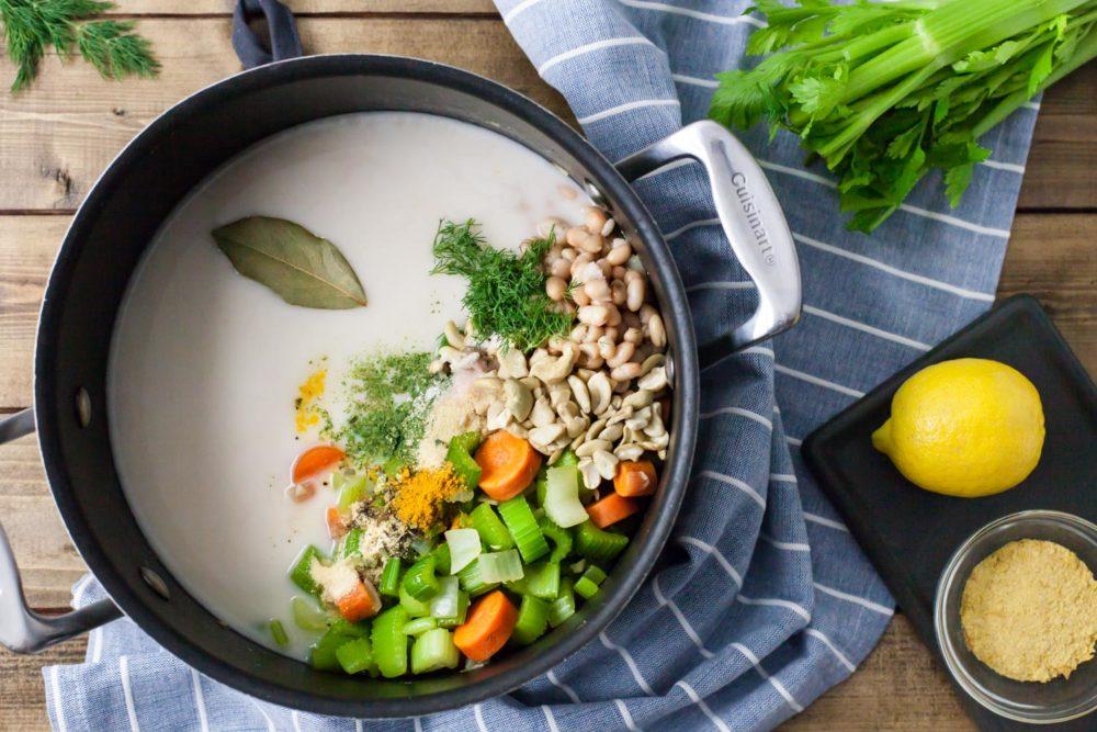 celery soup pot cooking