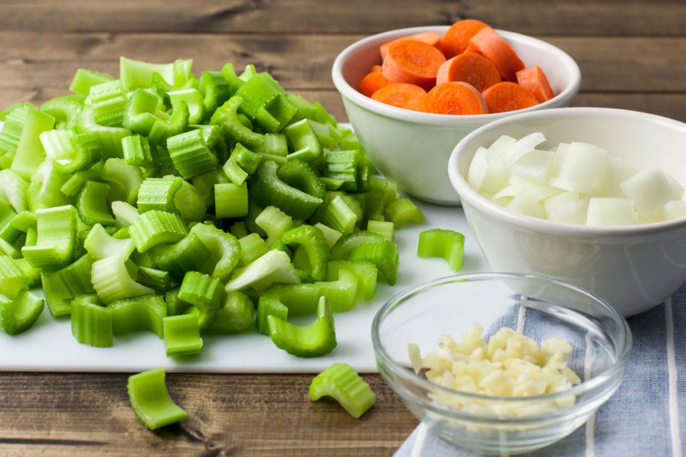 celery soup veggies cut