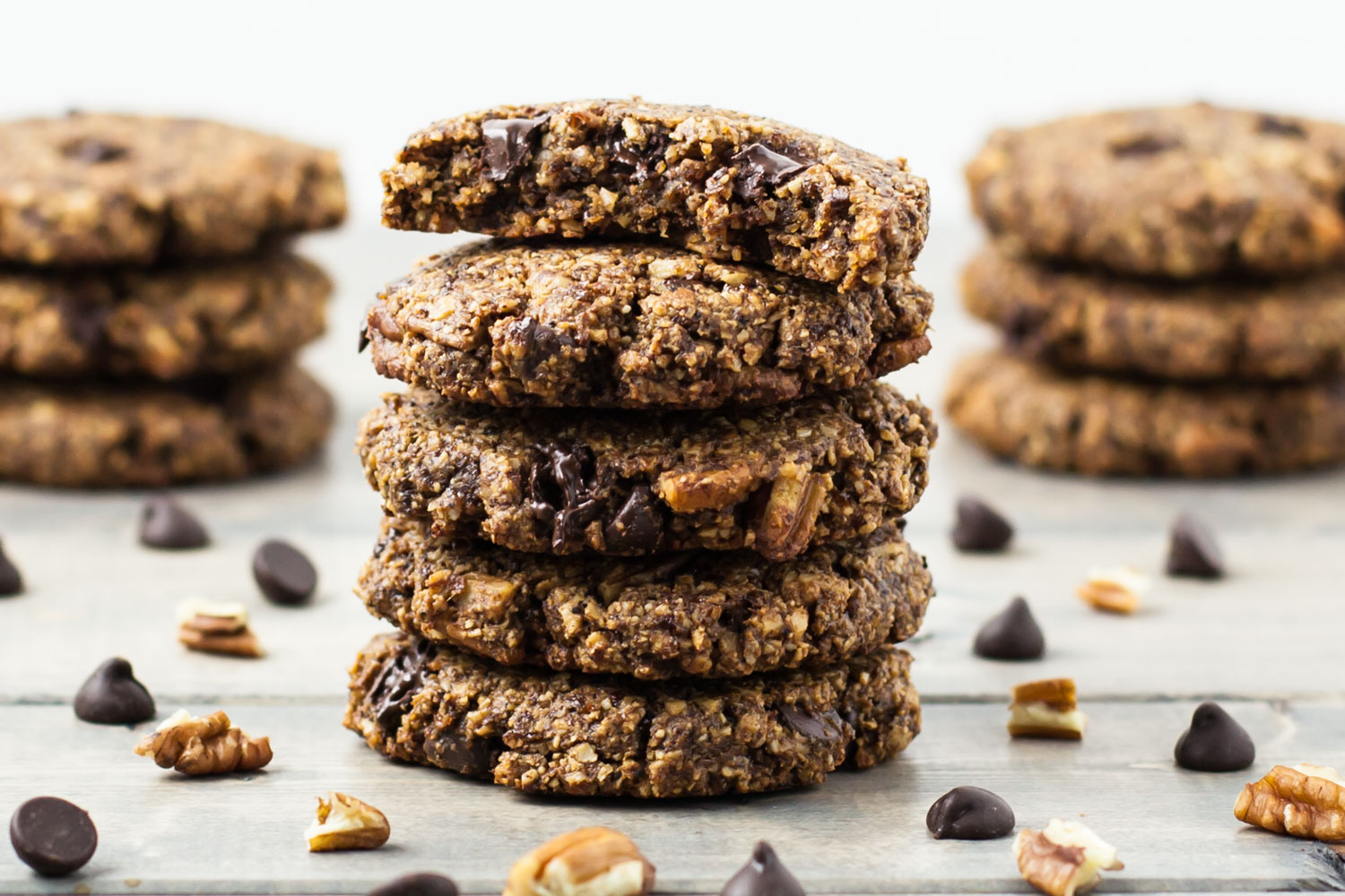 Whole Food Plant Based Chocolate Chip Cookies