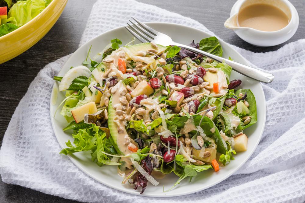 Make a big ass salad whole food plant based