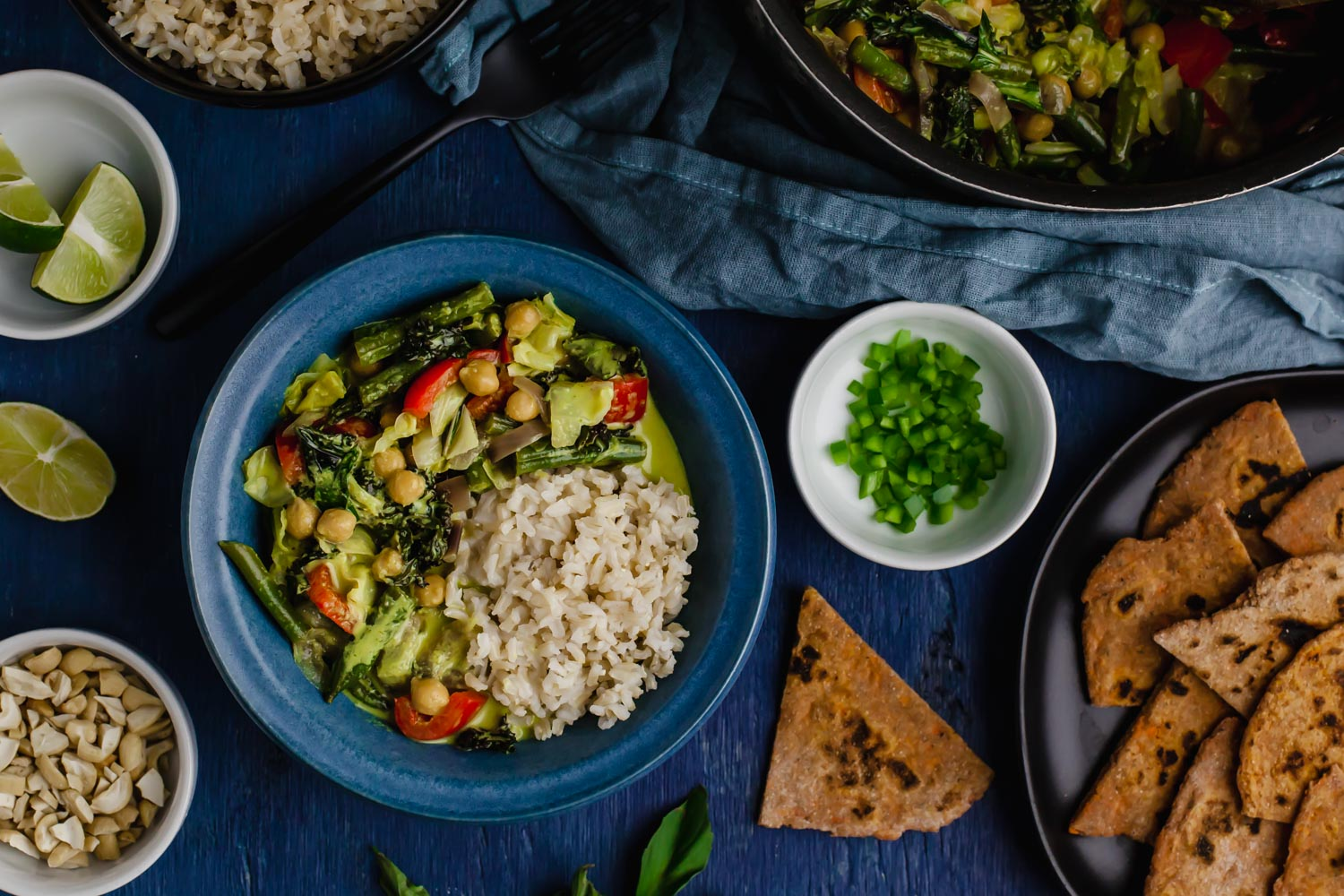 Chickpea Green Curry (oil-free)