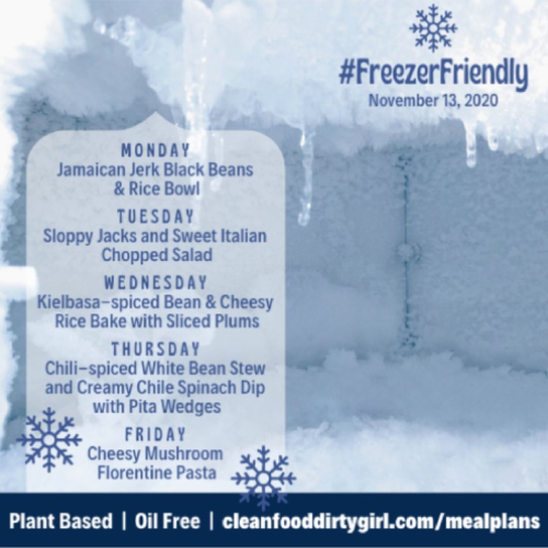 Freezer friendly menu nov 2020