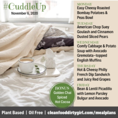 Cuddle Up Menu Nov 2020