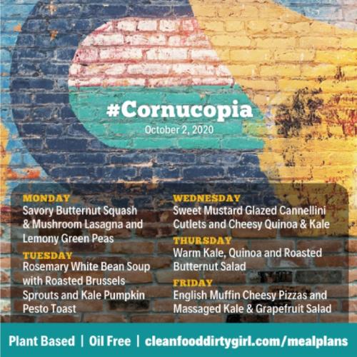 Cornucopia menu october 2020