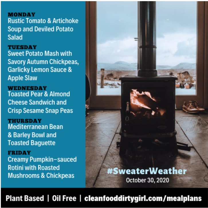 sweater weather menu