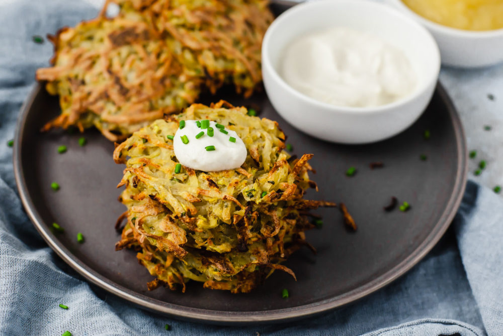 Batch Cooking Video to Help You Batch Cook Faster + Plant Based Potato & Zucchini Latkes (oil-free)