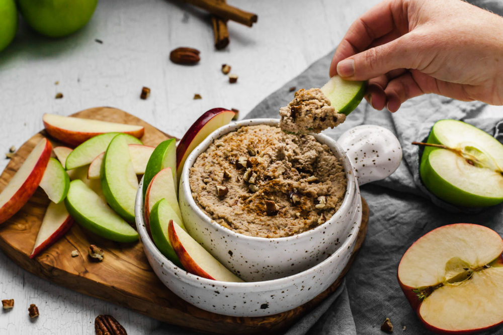 Creamy Maple & Toasted Pecan Dip (single mom plant based cooking)