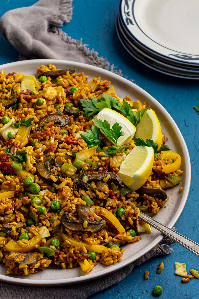 whole food plant based Meal Planning + Paella
