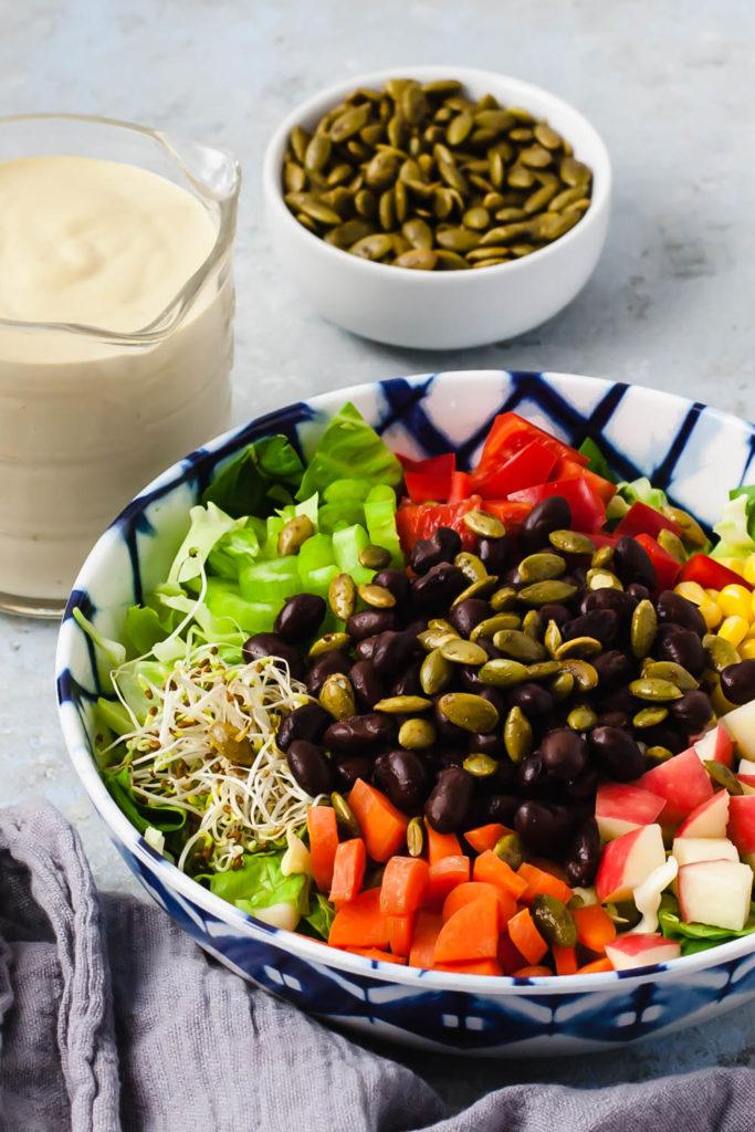 making a tasty salad