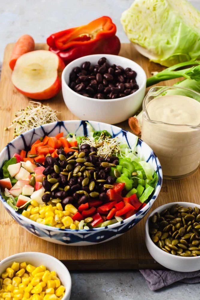 How to Make a Delicious Salad + Super SImple Big Ass Salad