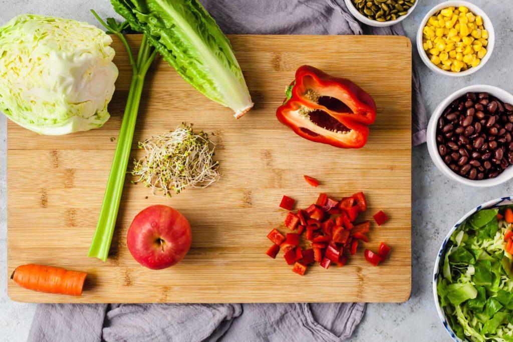 tasty plant based salad