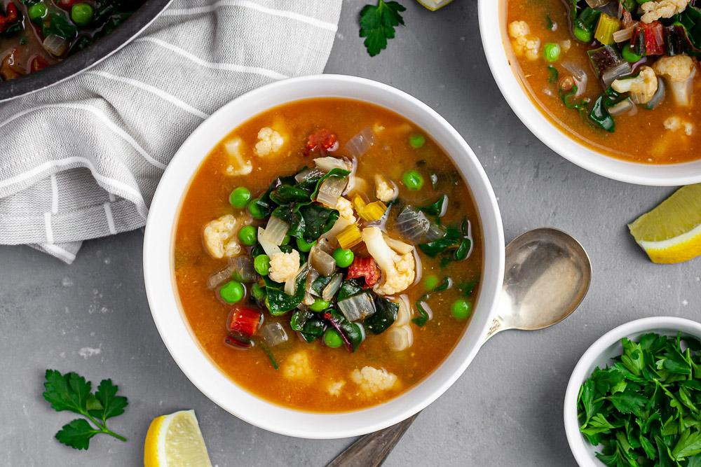 cold-blasting garlic soup