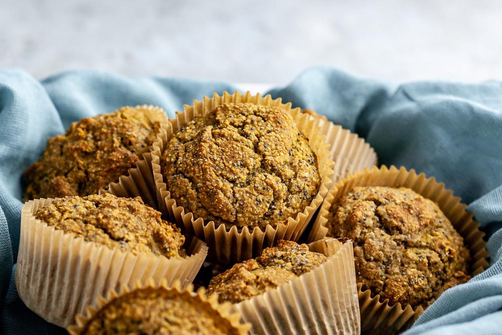 Whole Food Plant Based Lemon Poppyseed Muffins