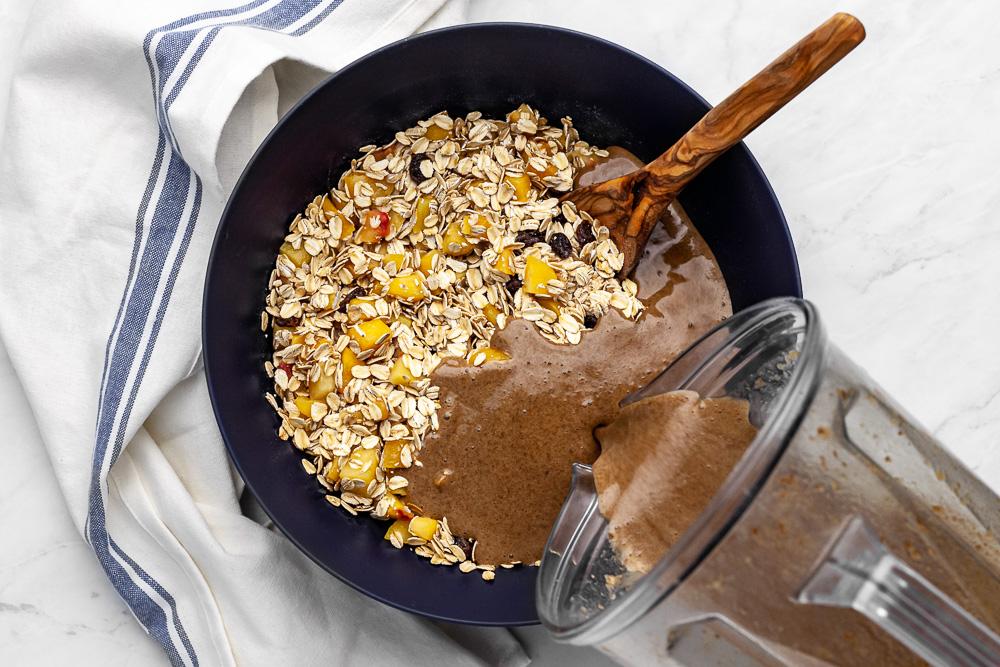 plant based oatmeal breakfast