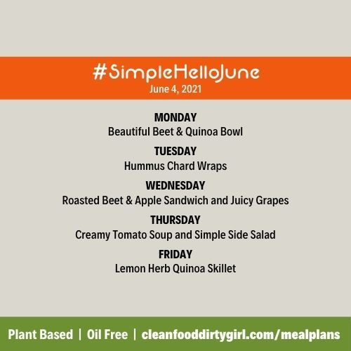 simple hello june plant based meal plans