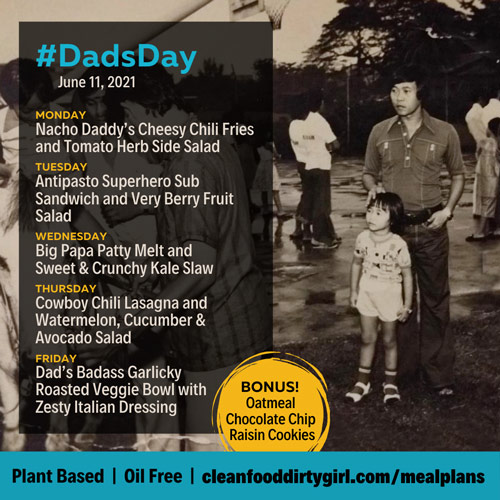 Dads Day fathers day plant based meal plan