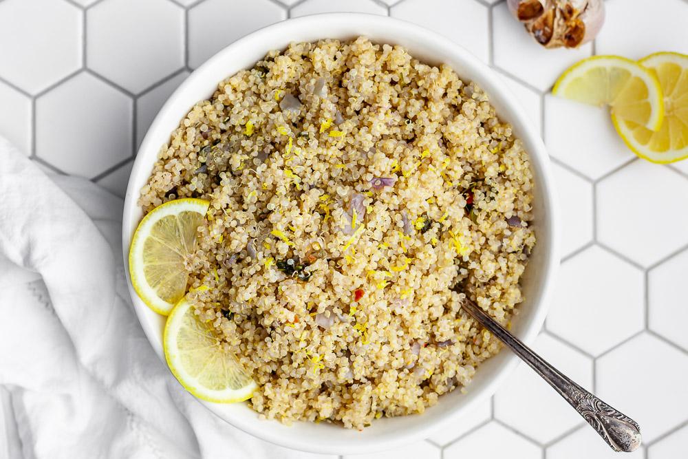 roasted garlic lemony quinoa recipe satisfying